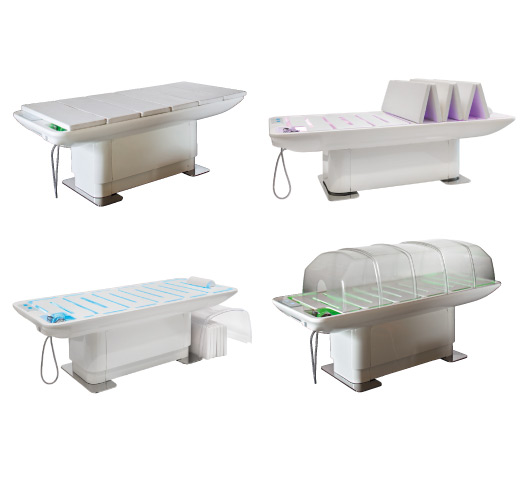 Nilo wet table beauty bed for Beauty on table