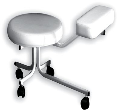 Pedicure Stool with Metal Frame