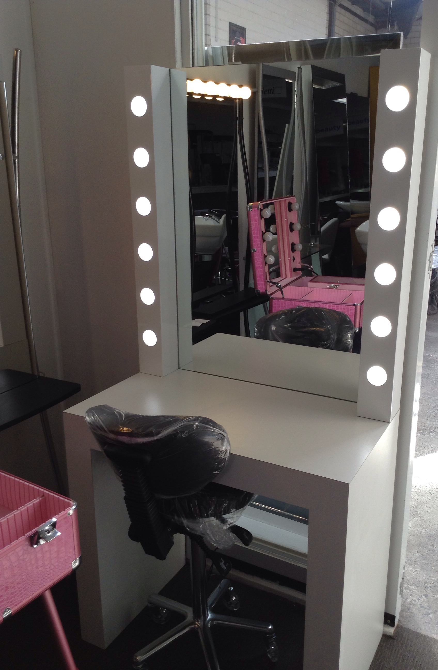 Wendy make up station australian made for Salon furniture makeup station
