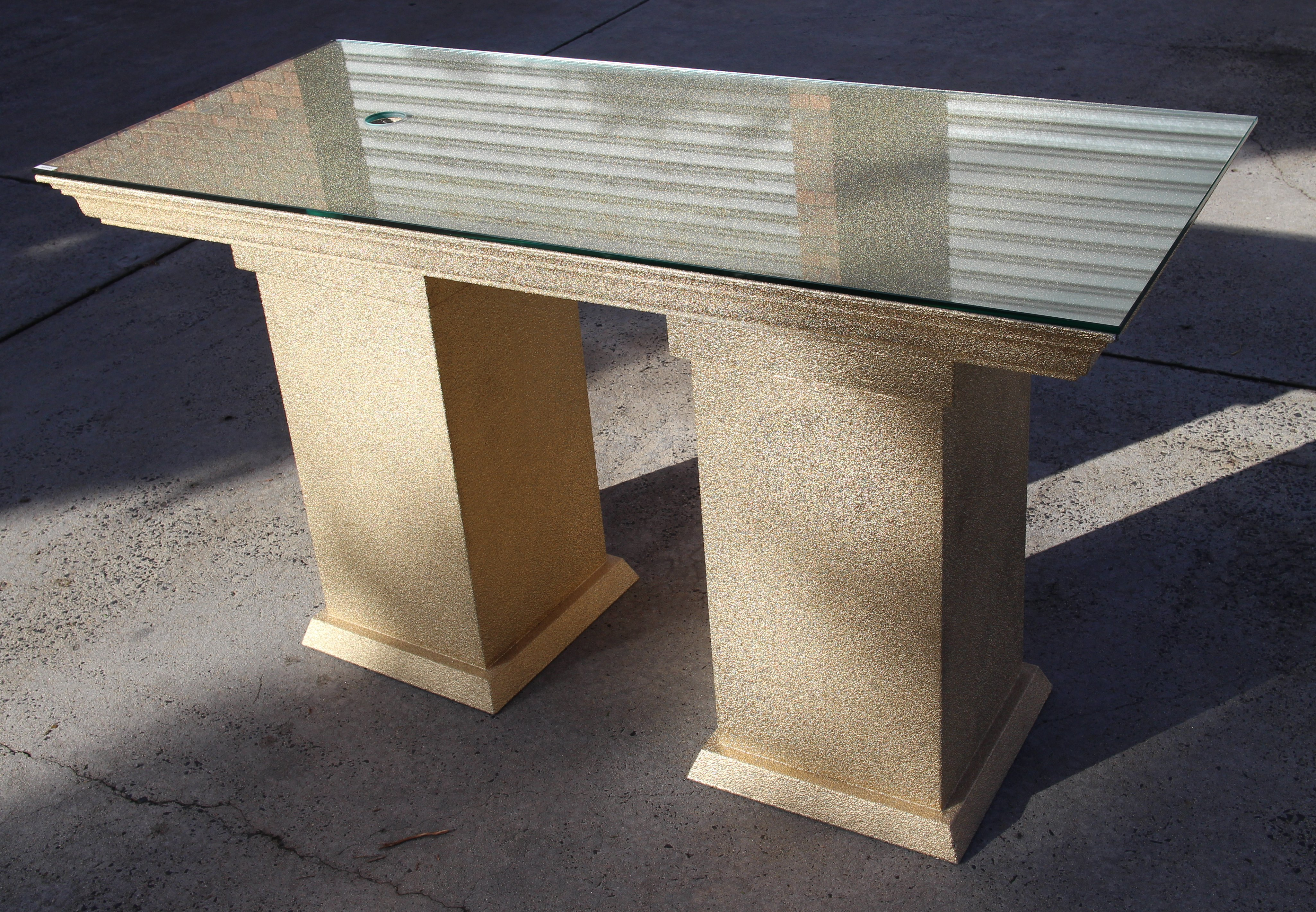 H&B Gold Stone Australian Made Reception Desk