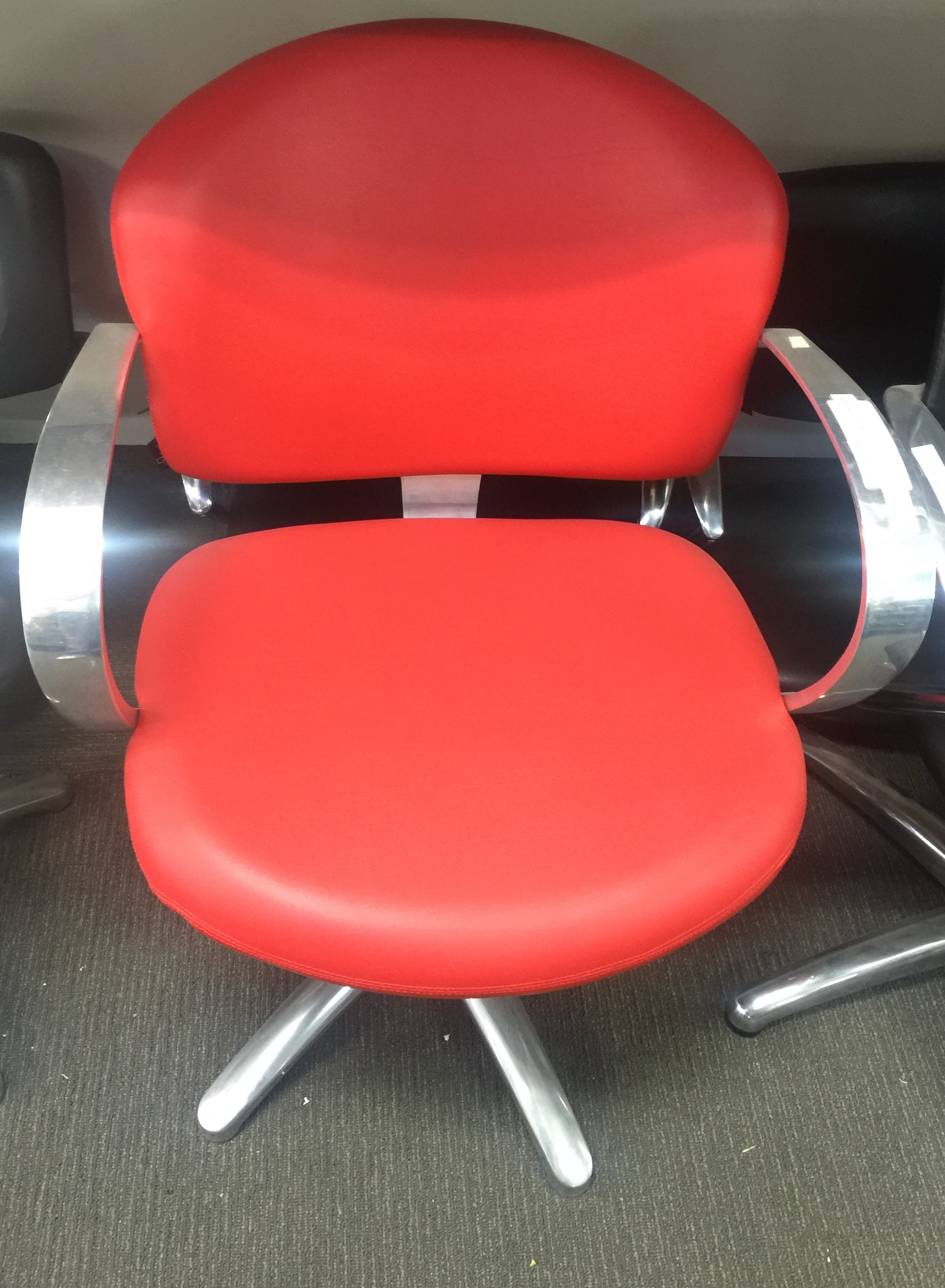 globe office chairs. Maletti EX Showroom Stock Globe RED Salon Chair Office Chairs