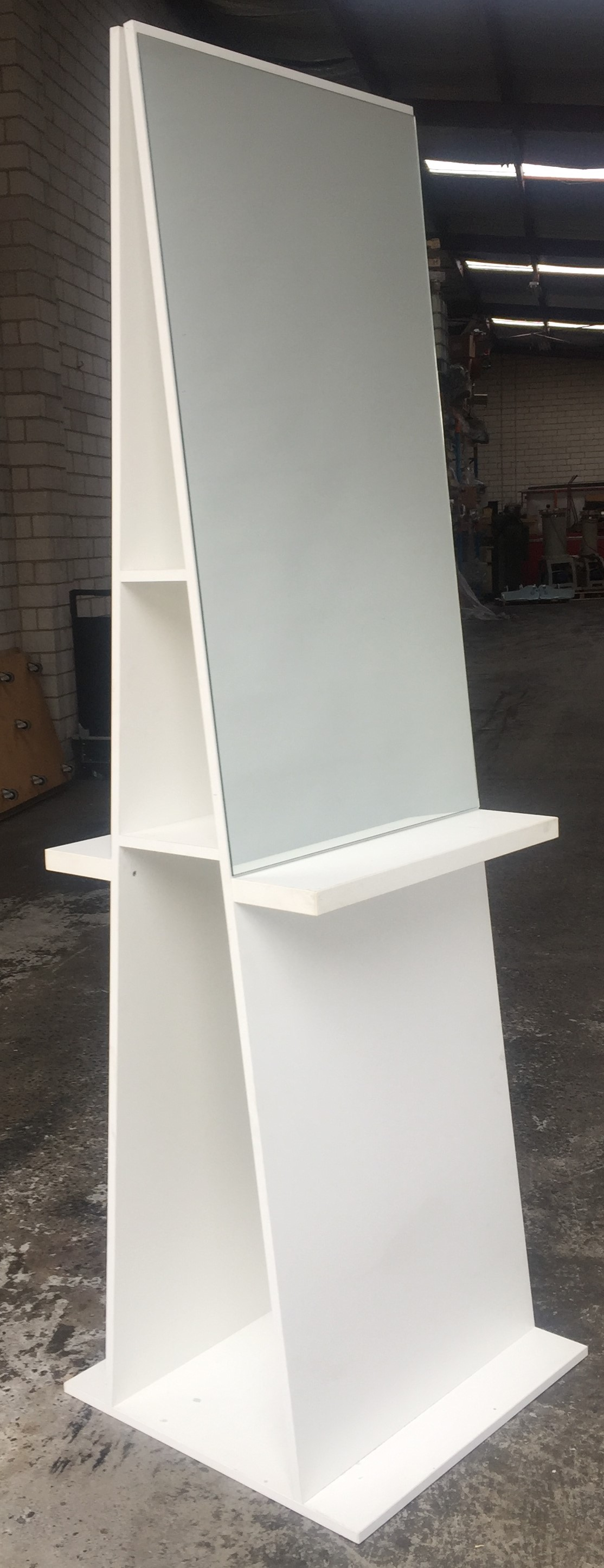 Showroom Stock White Double Sided Workstation