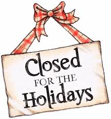 Closing for the holidays